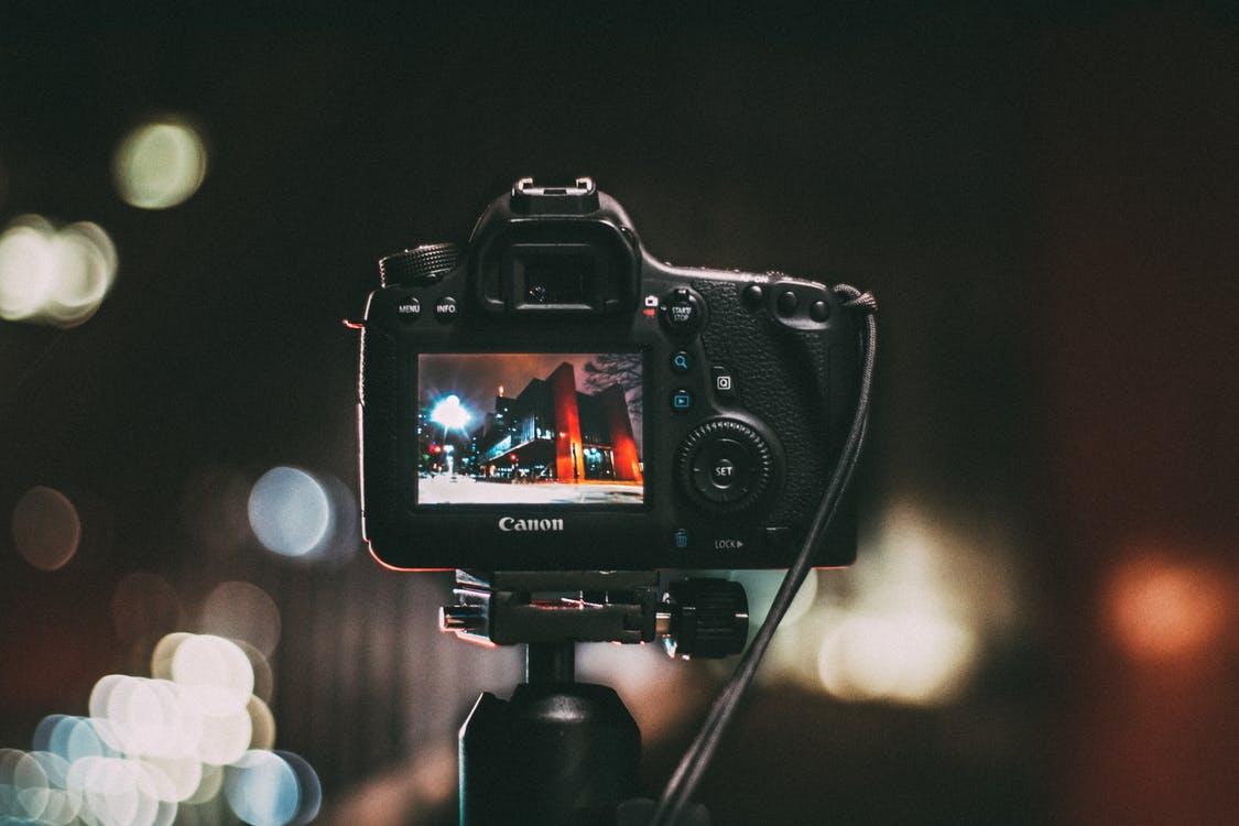 Canon c300 ii c500 ii video camera stills on a tripod