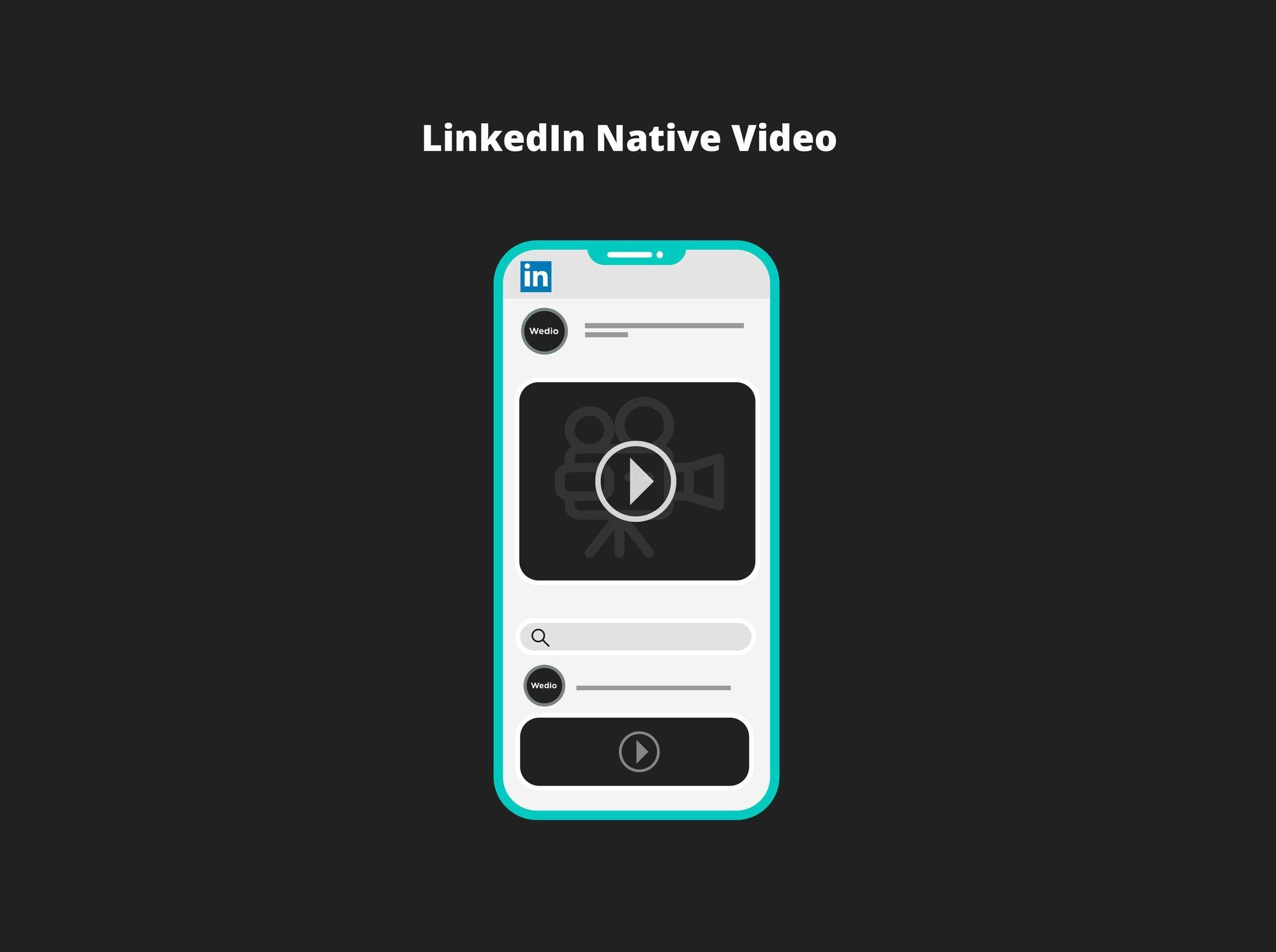 what is linkedin native video
