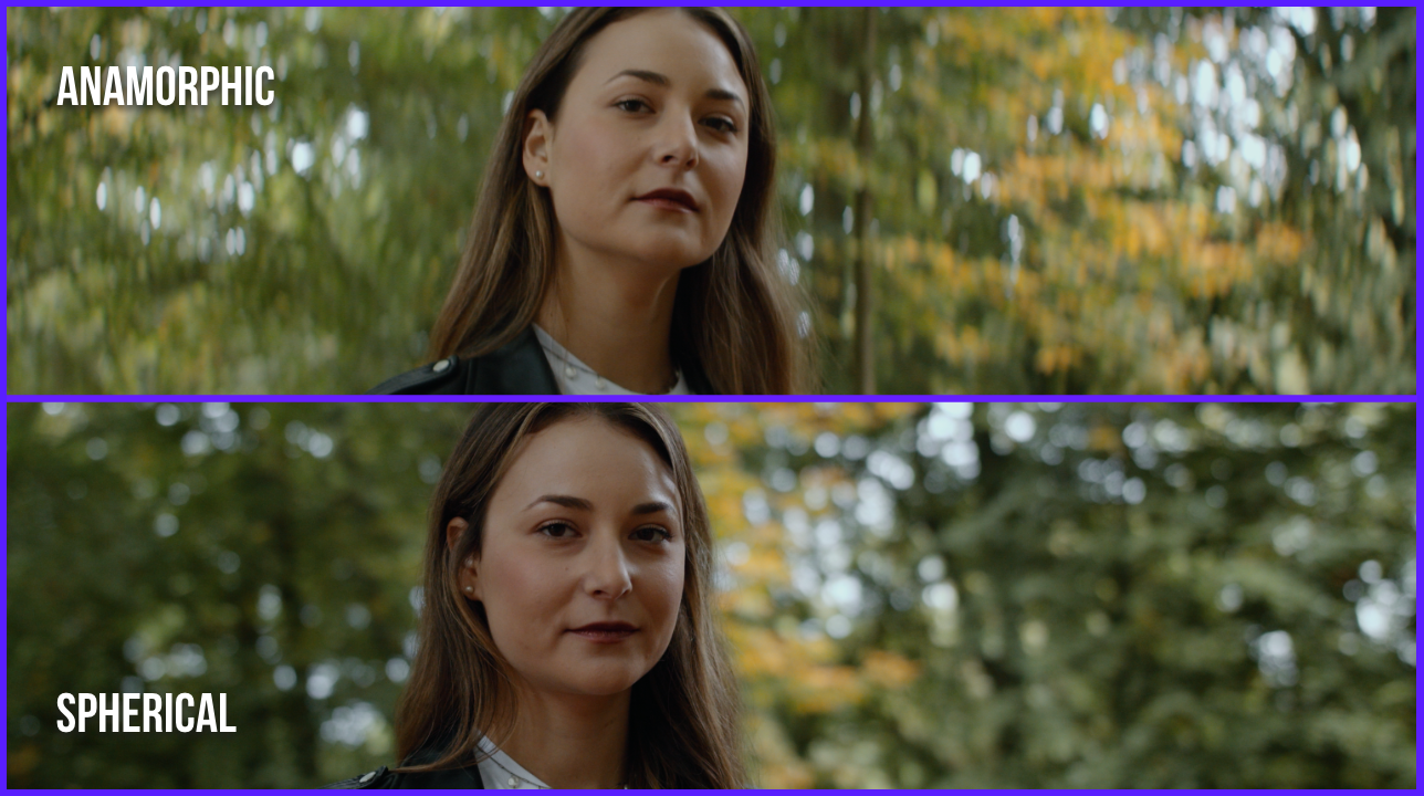 distortion and focus comparison of the spherical and anamorphic footage in the forrest of Aarhus Denmark