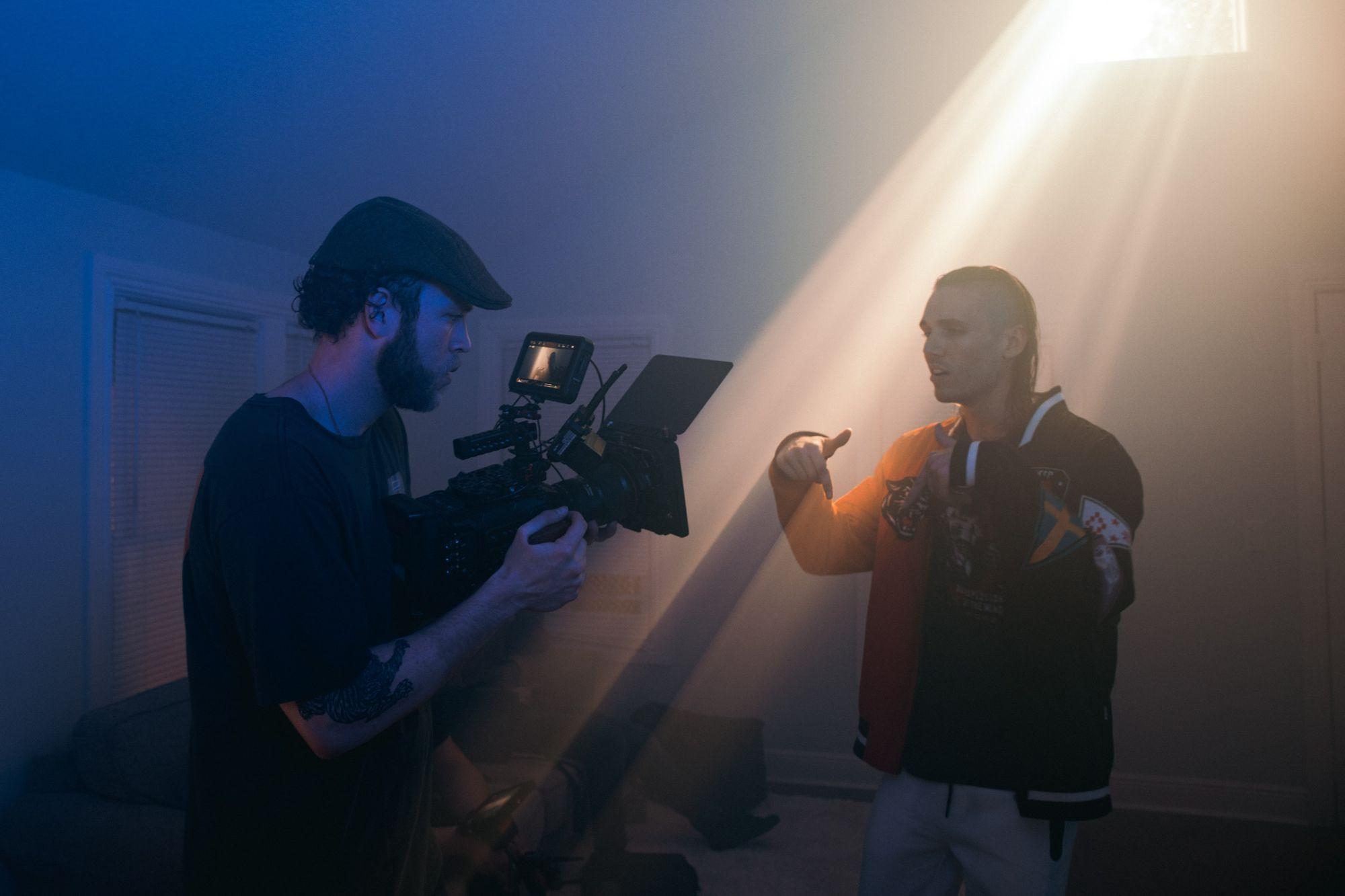 Lighting setup in cinematography