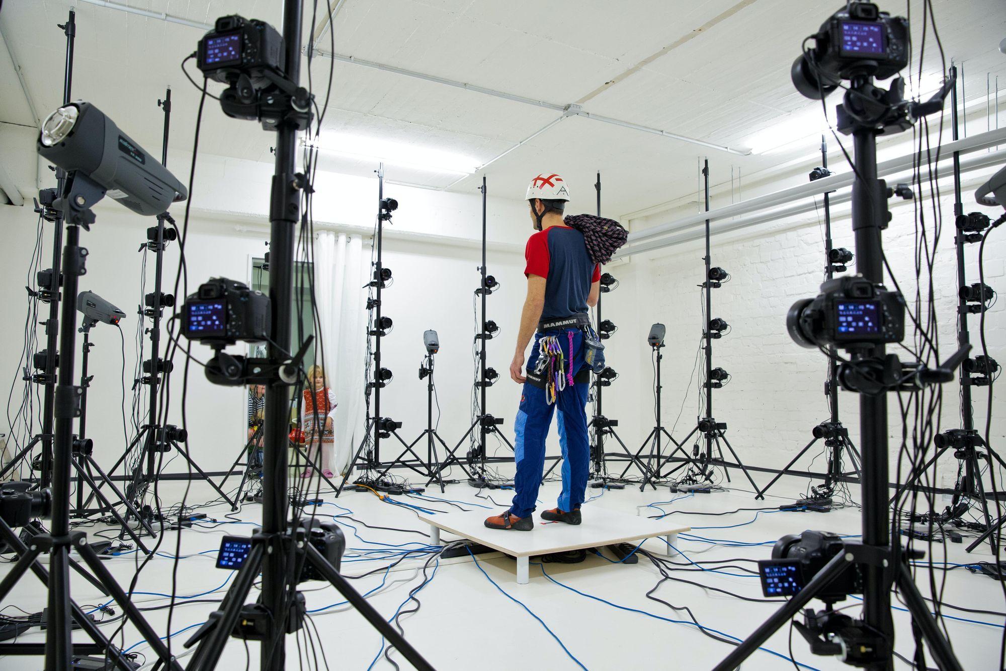 Behind-the-scenes photo