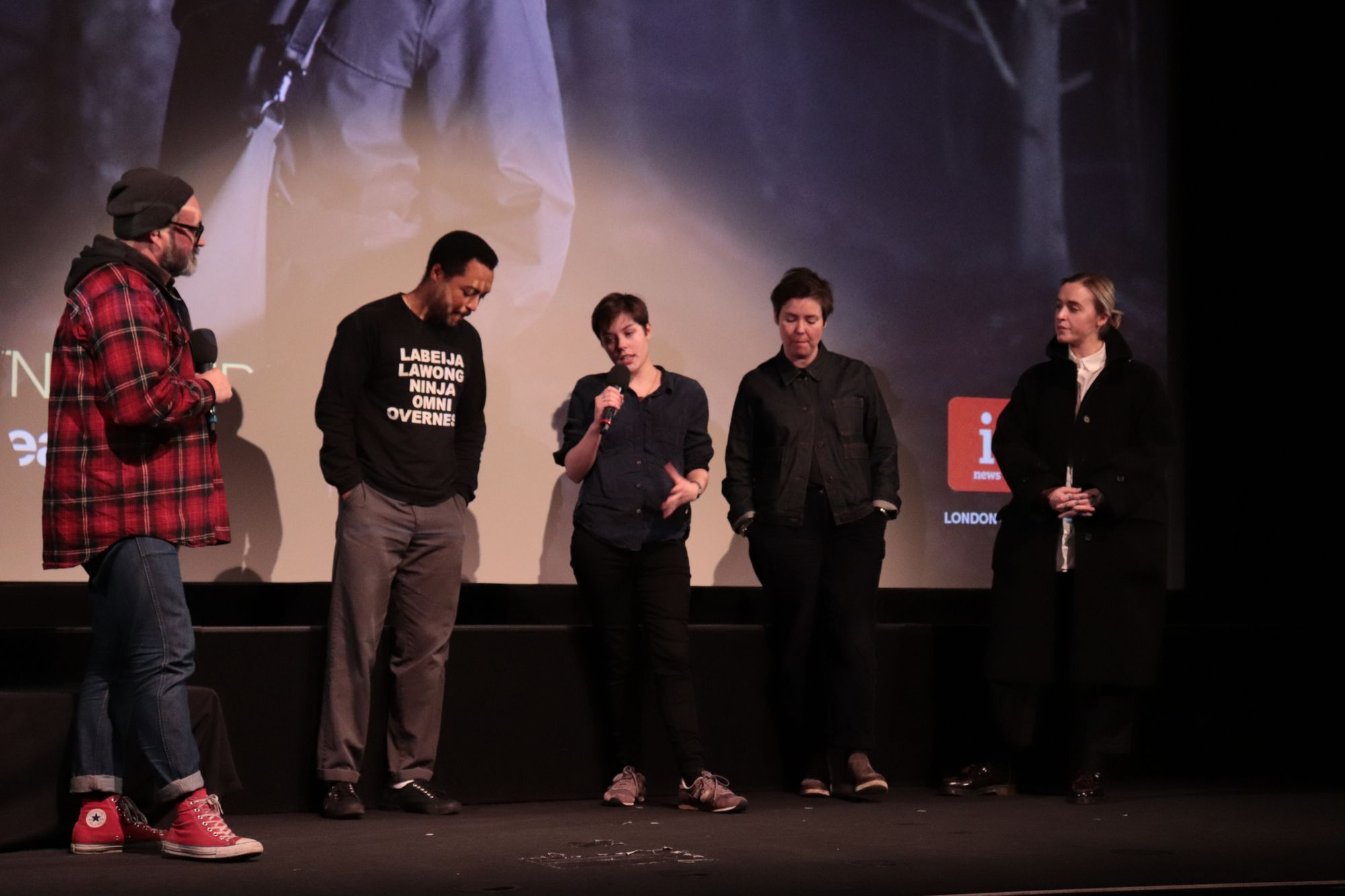 artistic director philip ilson at london short film festival in london on stage panel talk