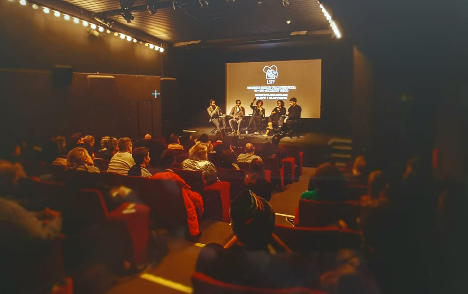artistic director philip ilson at london short film festival in london on stage