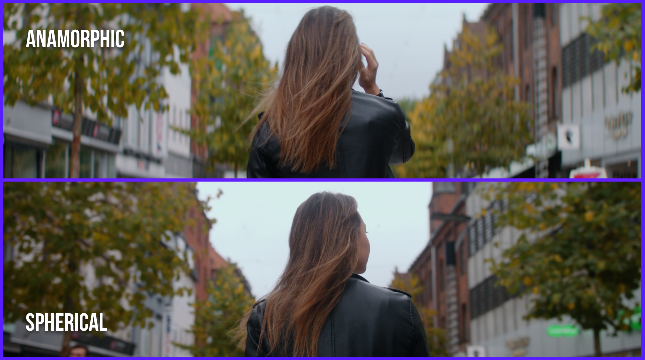 distortion and width comparison of the spherical and anamorphic footage in the city of Aarhus Denmark