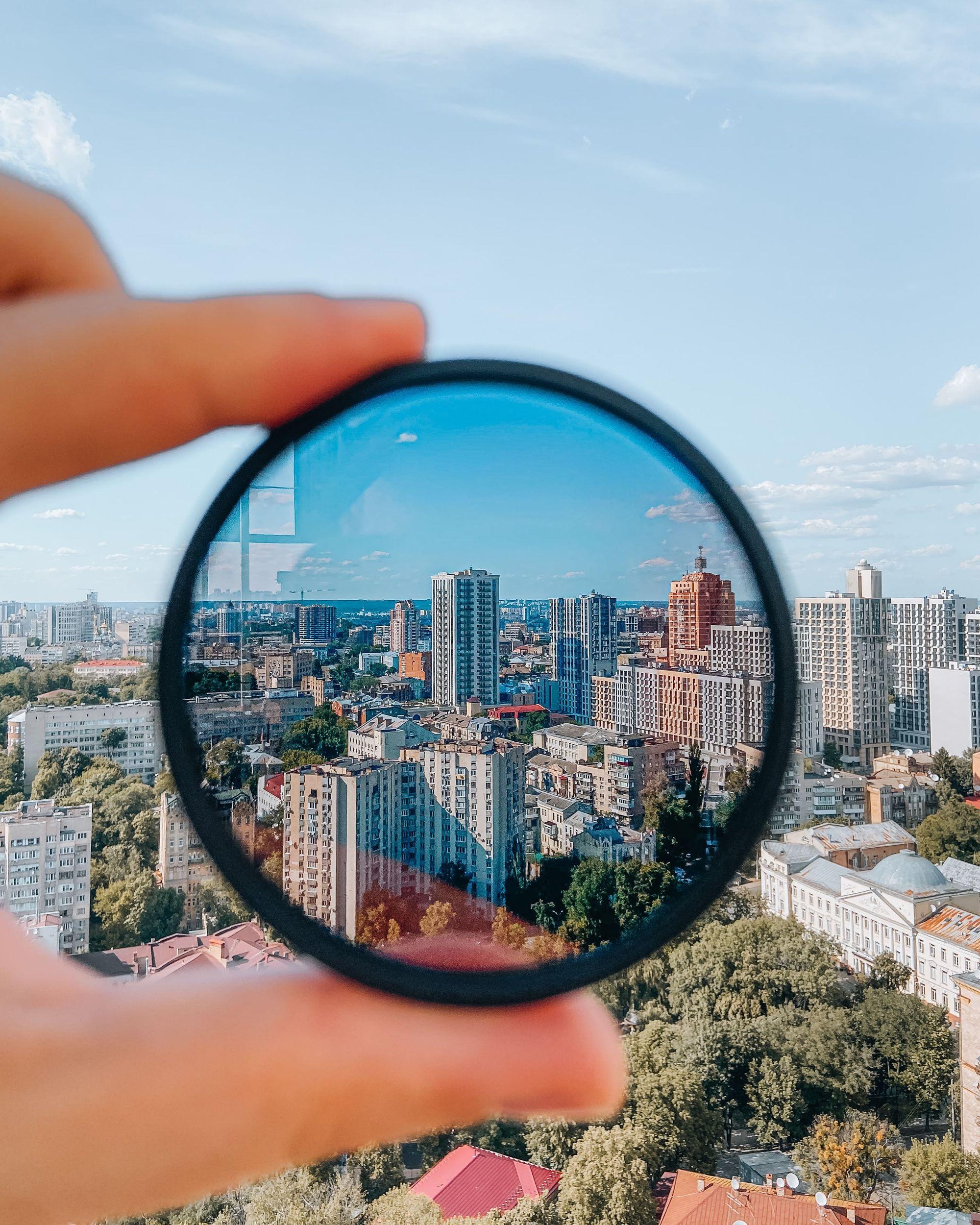 Look for lens sharpness in a landscape lens