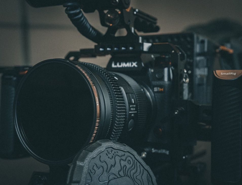 Panasonic Lumix S1H video camera close up