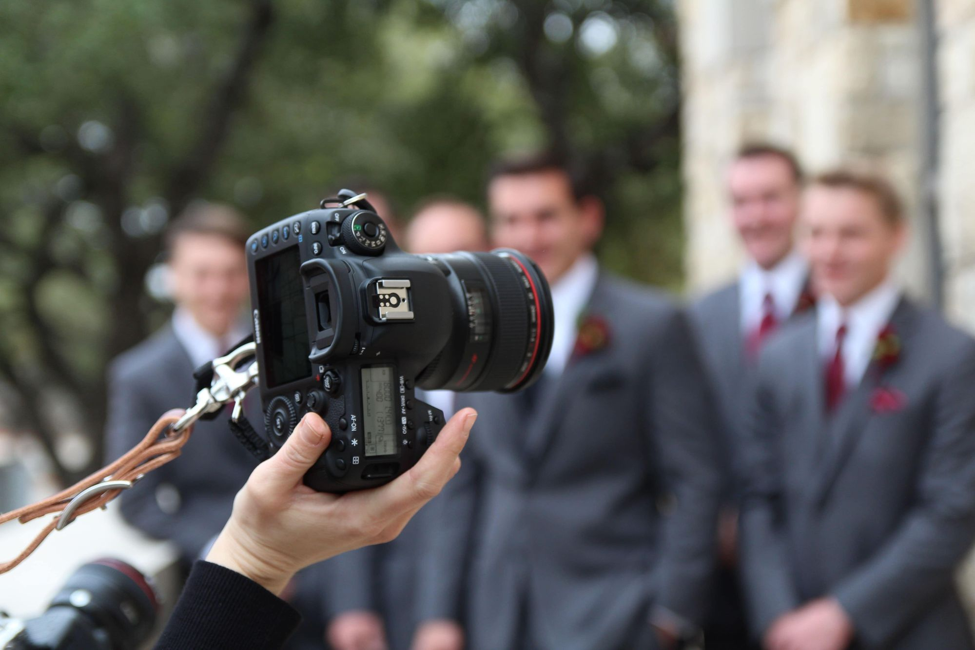 Photographing a graduation