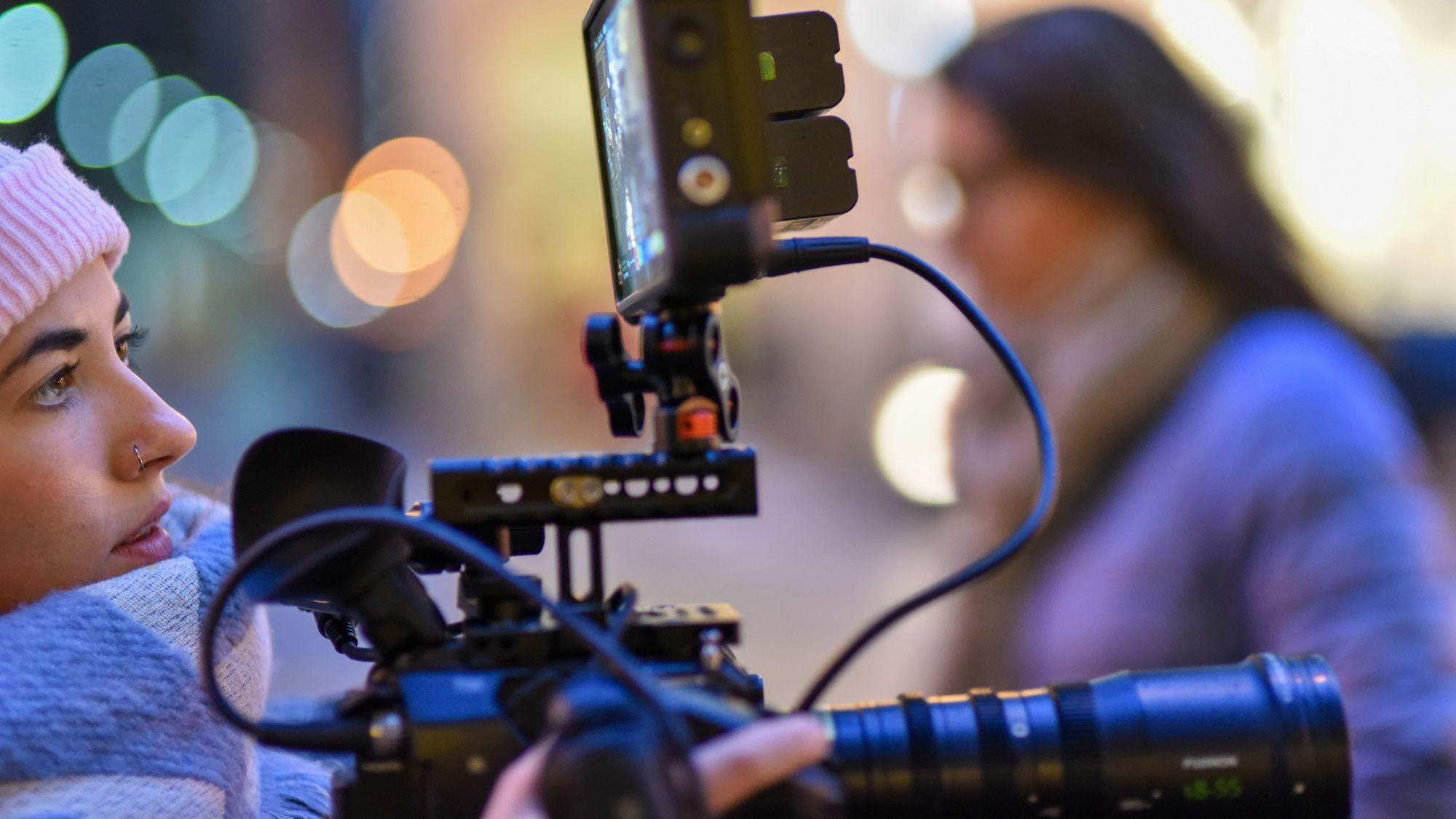 cinematographer shooting a scene