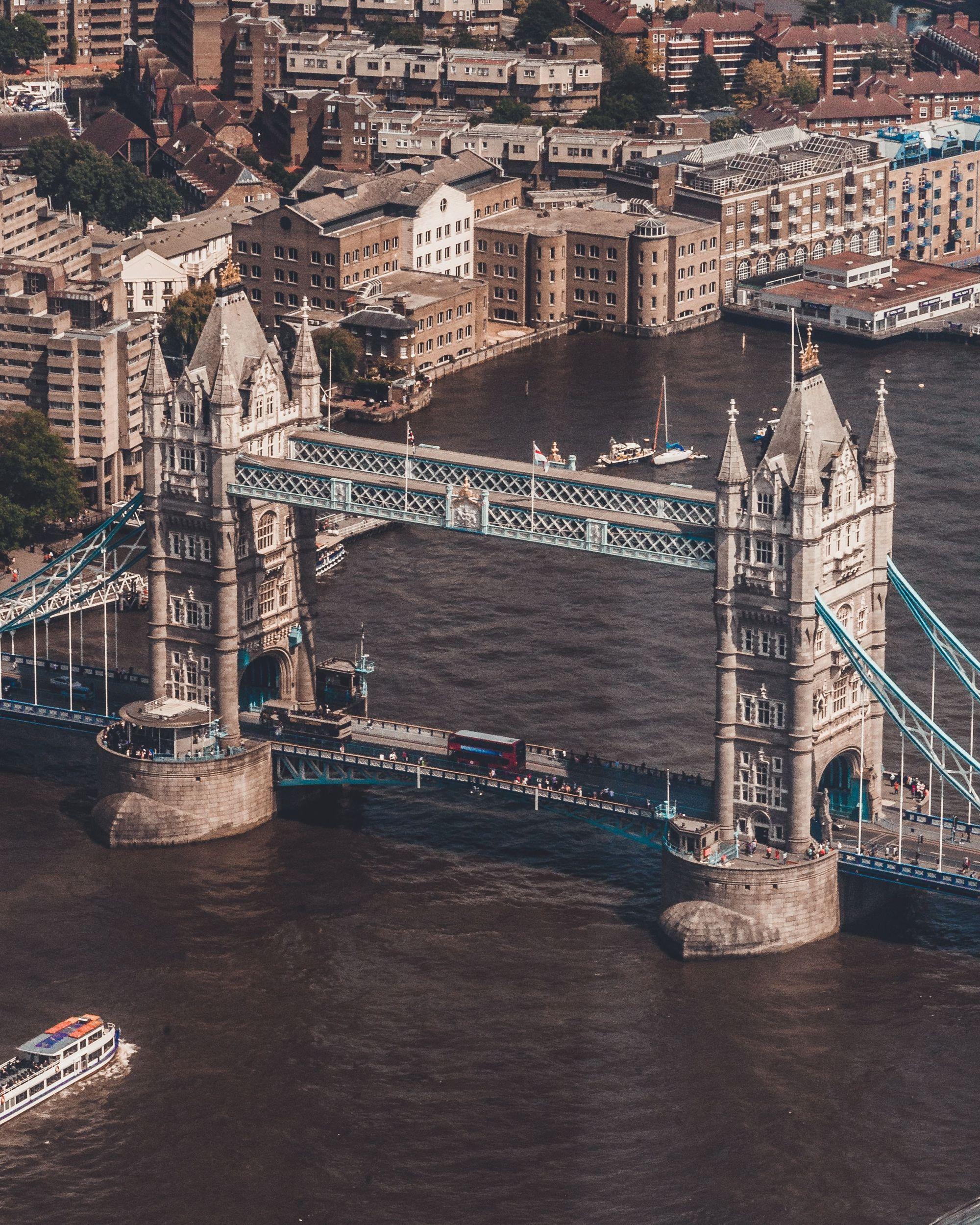 Tower bridge drone shot