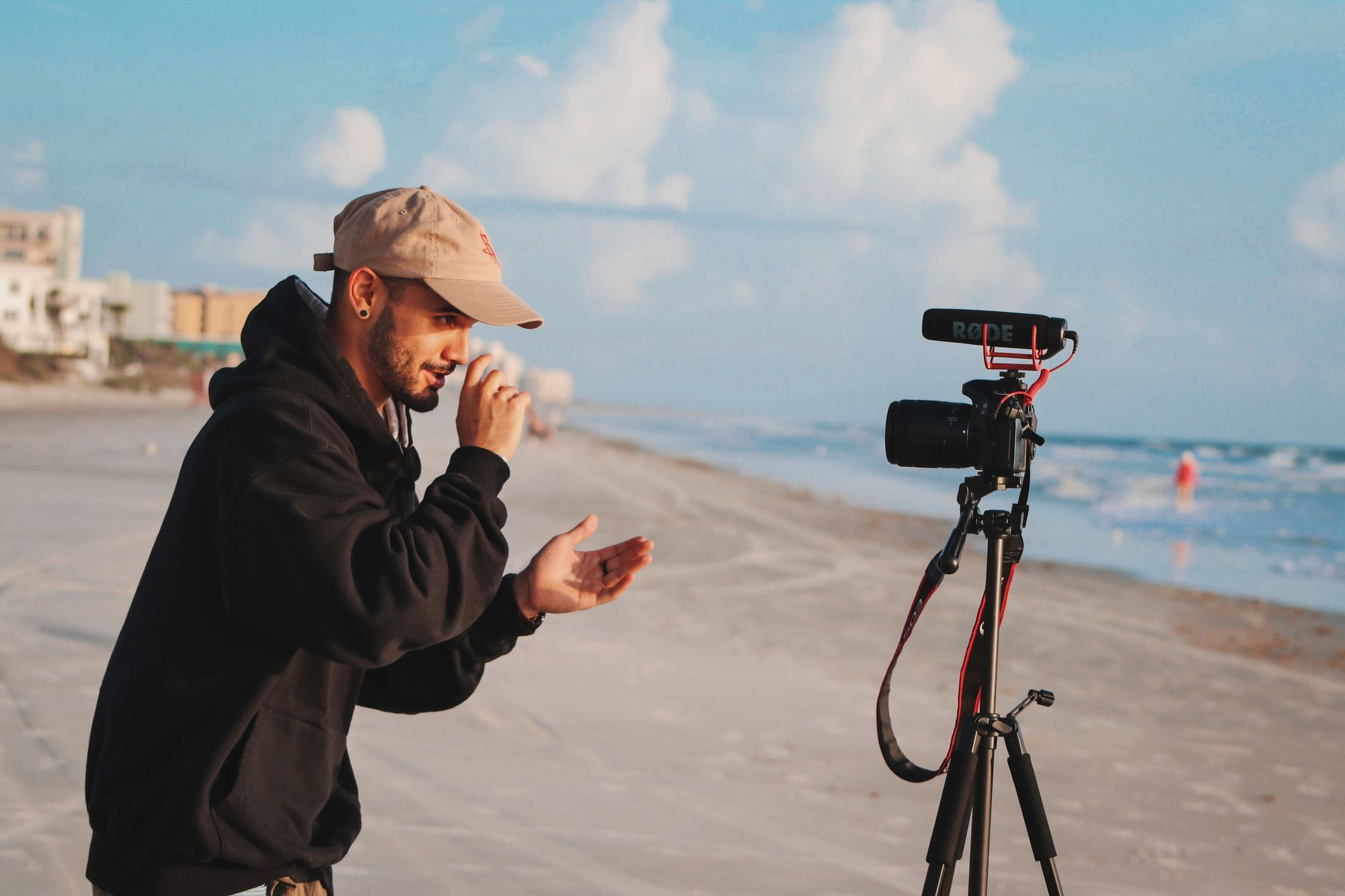 man-recording-himself