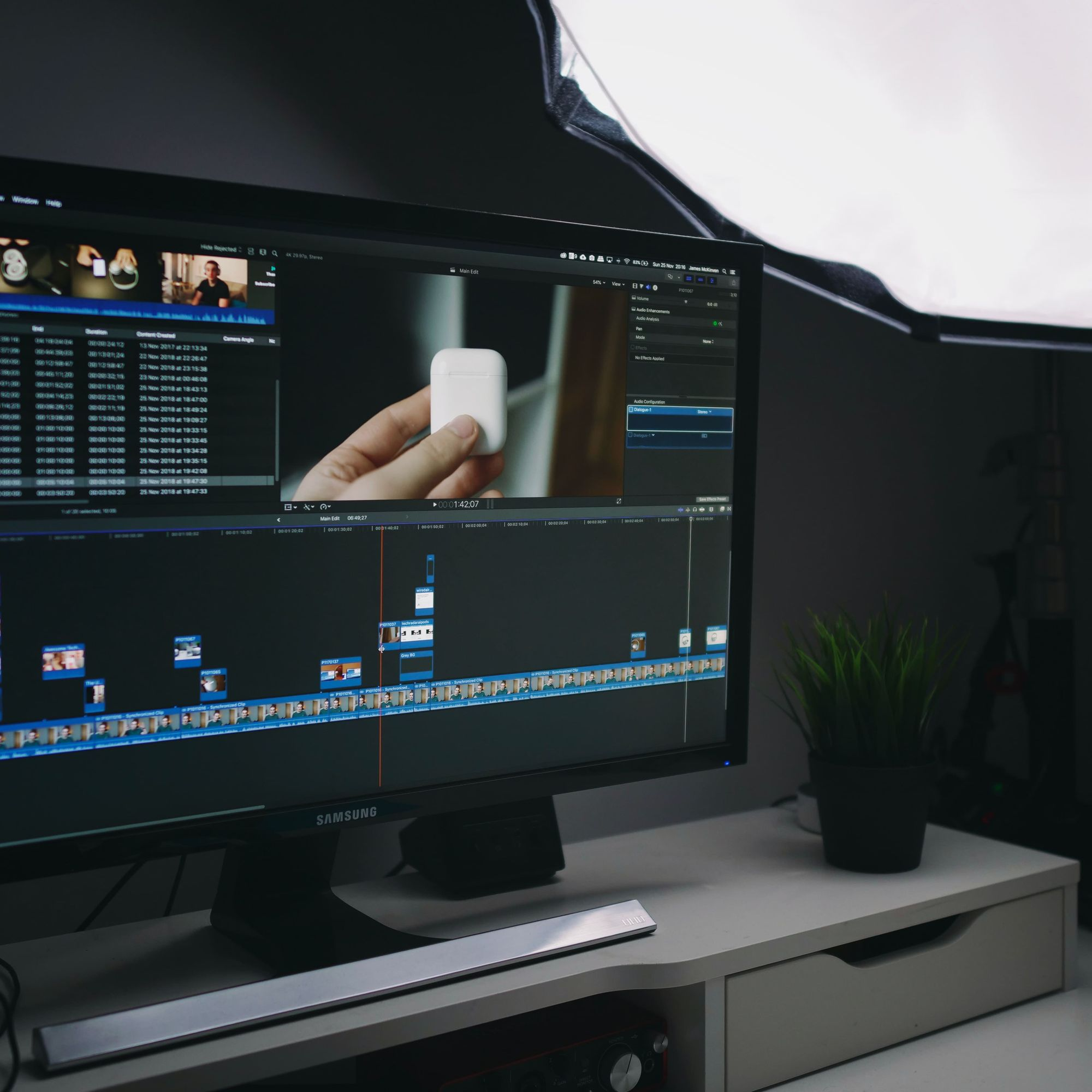 The last phase of the video production is the post-production