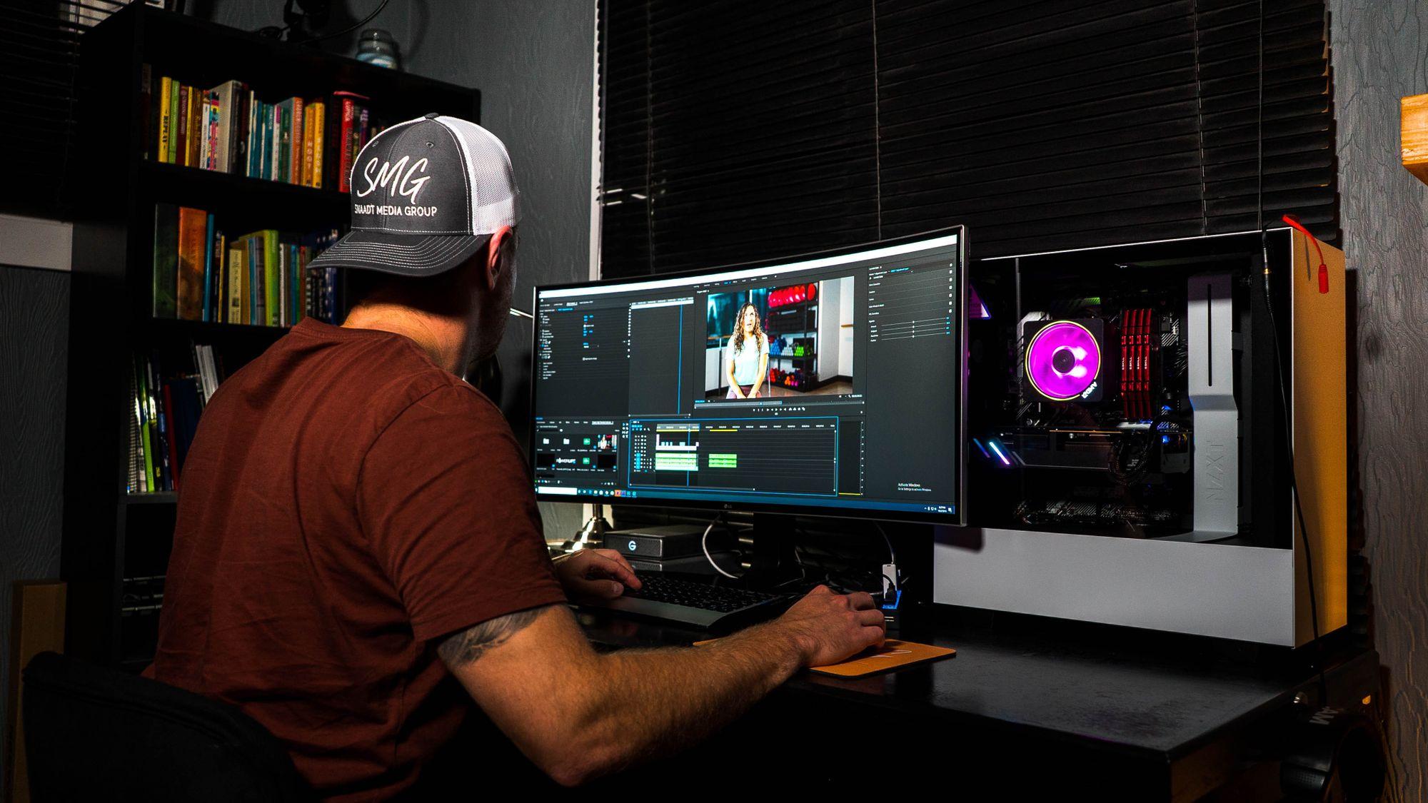 man-editing-videos