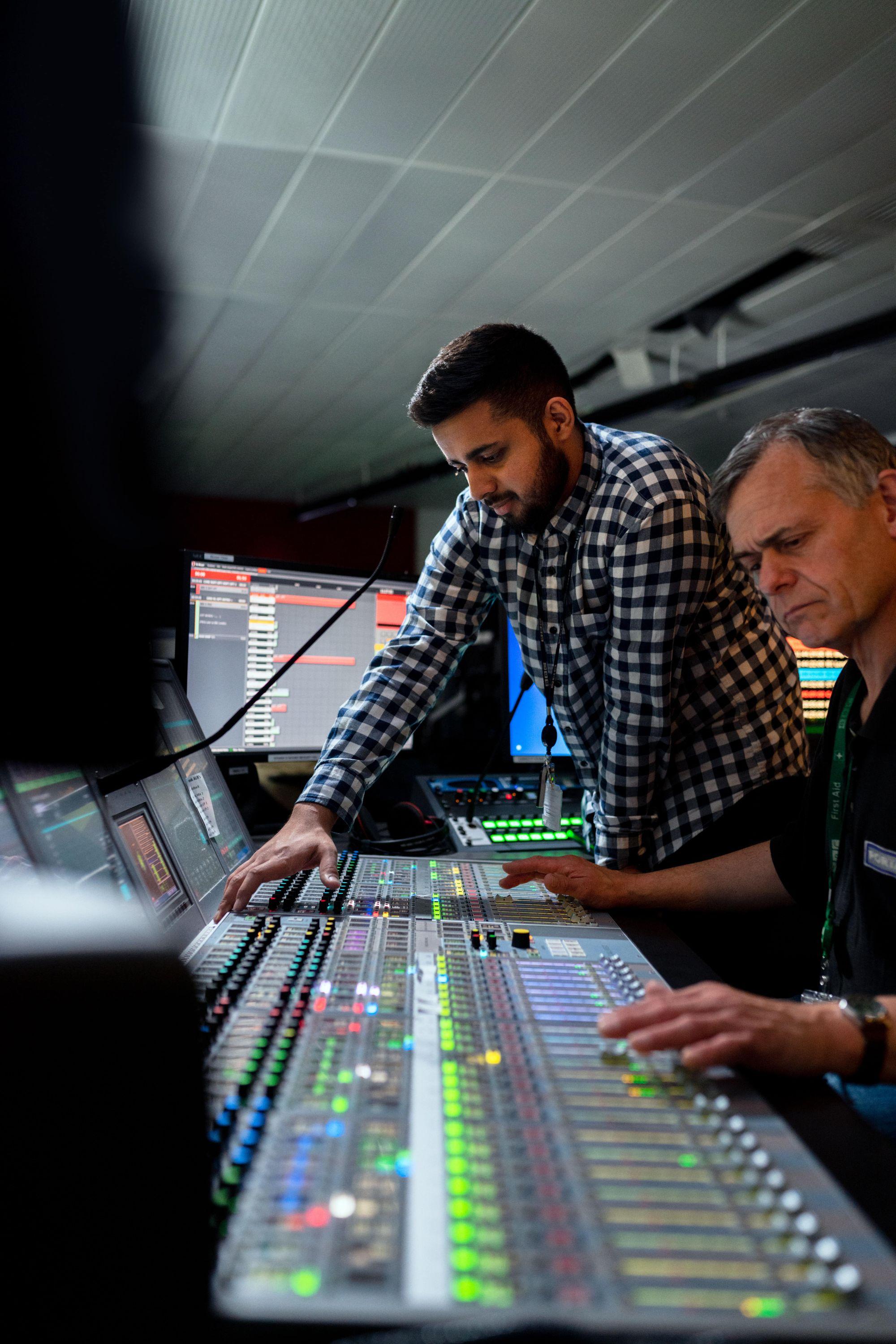 two-people-audio-engineering