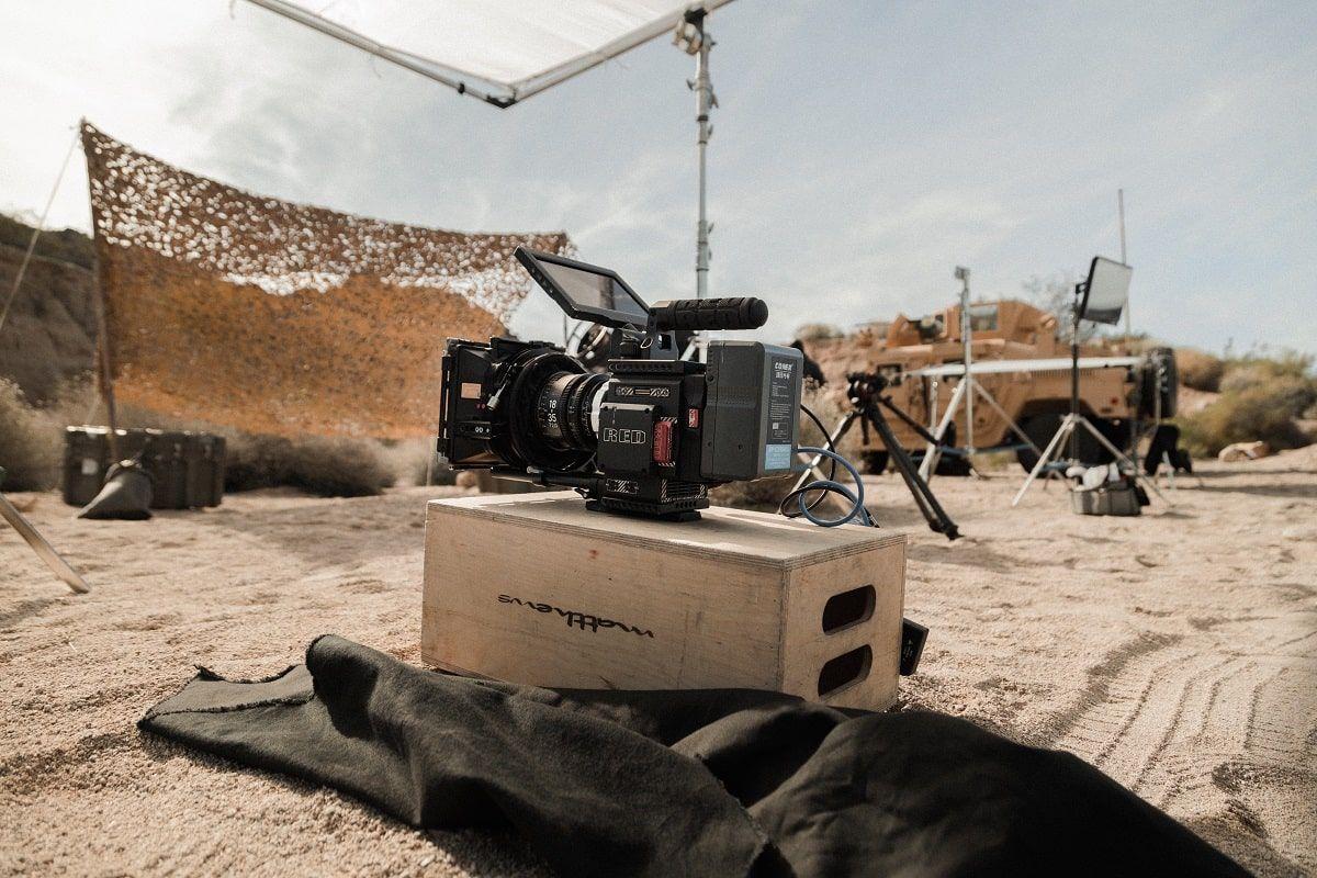 camera in the desert