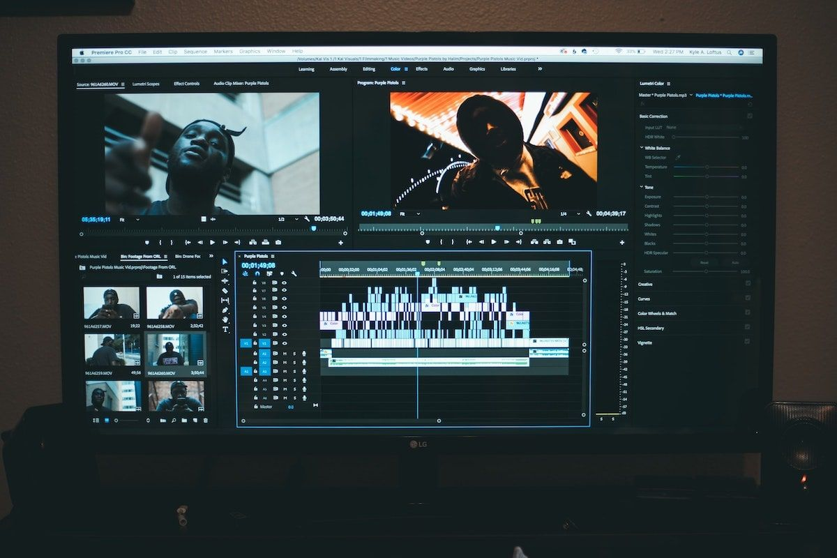 Learn to edit in videography