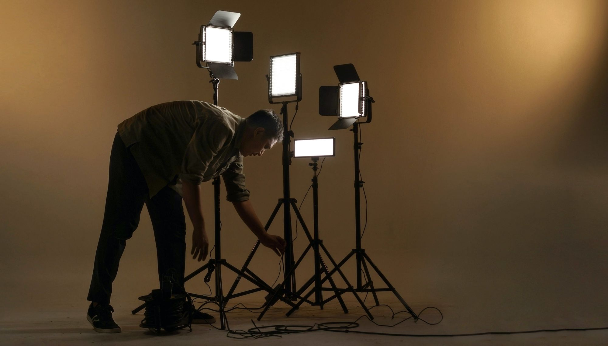 several lights on a set