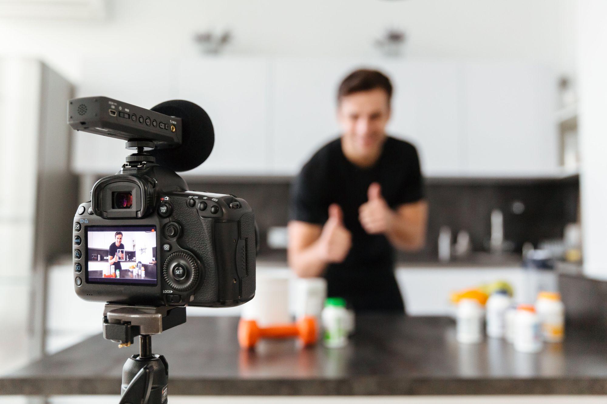 vlog in kitchen