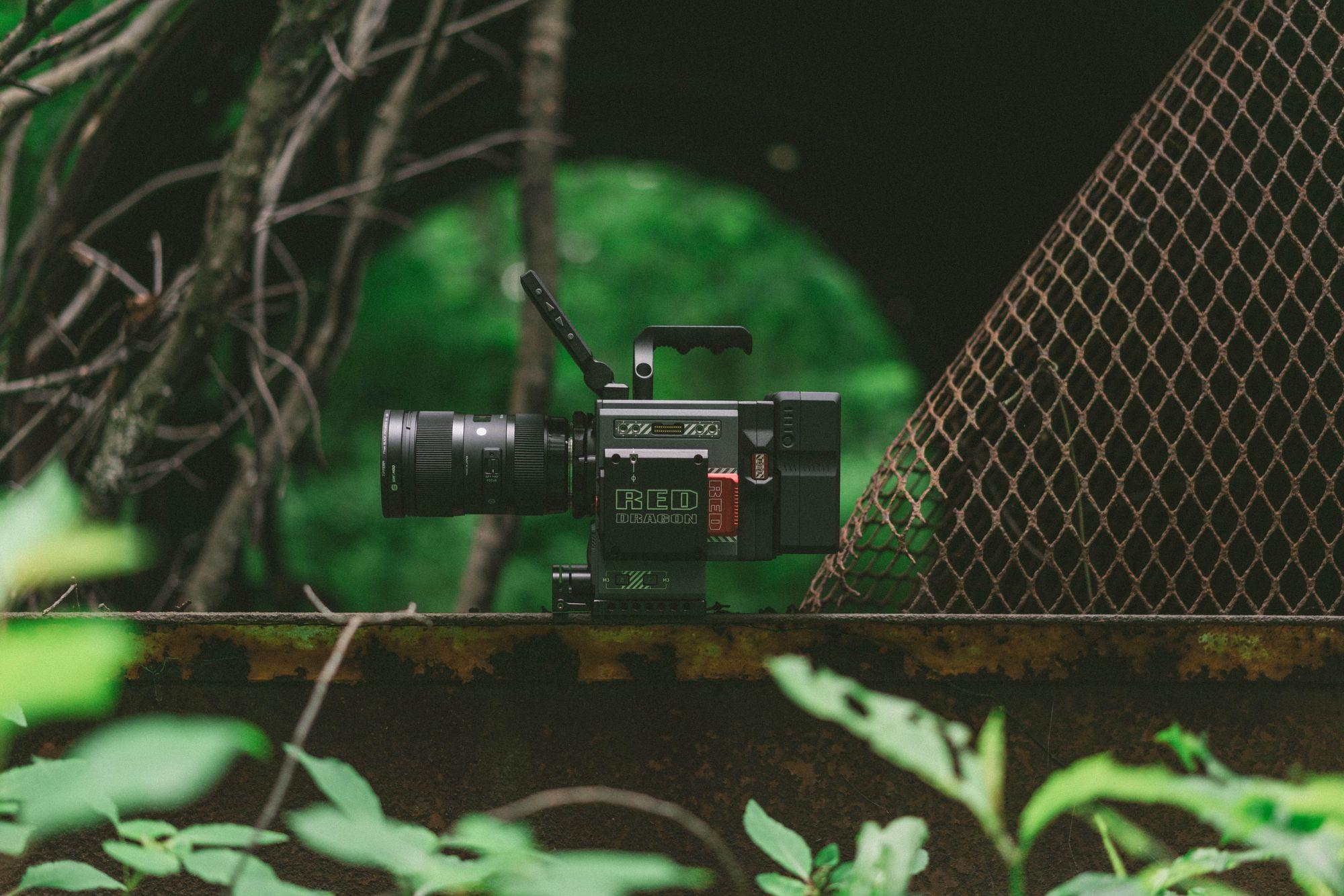 camera outside near underpass